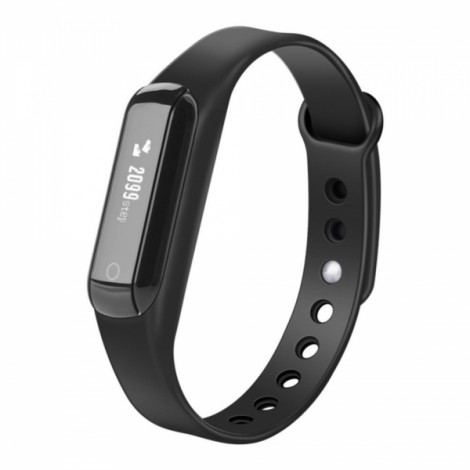 C3 Bluetooth 4.0 Waterproof Fitness Tracker Pedometer Sleep Monitor Smart Bracelet for Android IOS Black