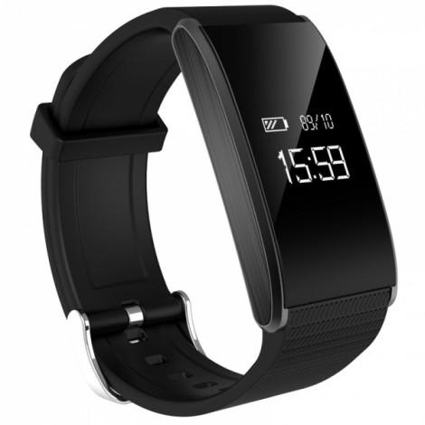 A58 Bluetooth Fitness Health Tracker Blood Pressure Heart Rate Sports Smart Watch Black