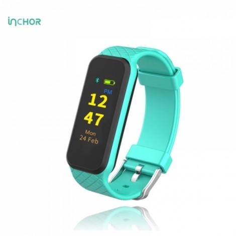 INCHOR WRISTFIT HR2 OLED Heart Rate Monitor Smart Bracelet Wristband Fitness Tracker Blue