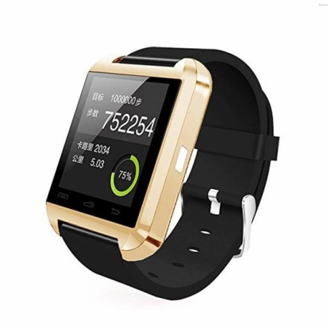 U8 Bluetooth Touch Screen Smart Wrist Watch for Android IOS Samsung iPhone other Phones - Golden