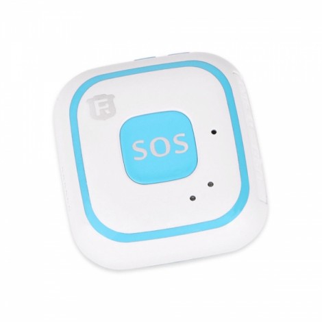 RF-V28 Built in Antenna Kids Child WiFi GPS LBS AGPS Tracker SOS Alarm Mini Locator Tracking Pendant - Blue+White