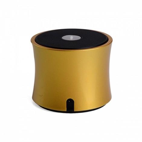 Abramtek3 Bluetooth Surround Sound Speaker for iPad iPhone Laptops FM MP3 Remote Light Golden
