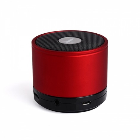 AbramTek M5-II Portable Bluetooth Speaker MP3 Player with Built-in Mic MP3 Subwoofer Red