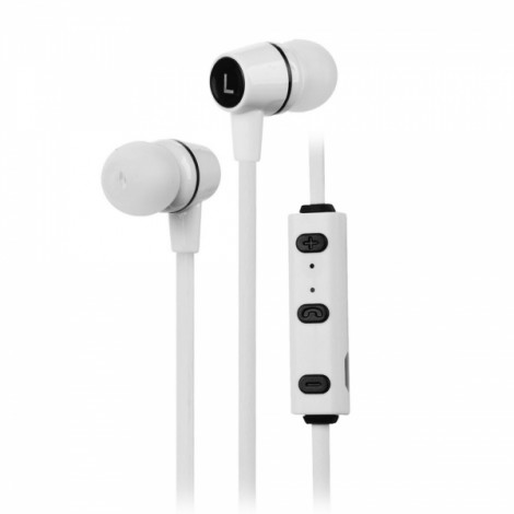 Sports Style Bluetooth V4.1 In-Ear Earbuds Headset with Mic White