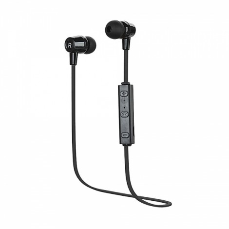 Sports Style Bluetooth V4.1 In-Ear Earbuds Headset with Mic Black