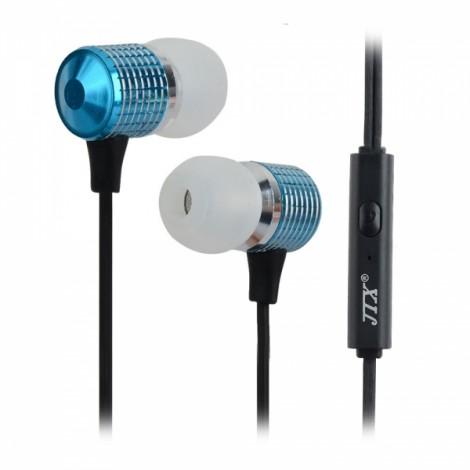 JTX J520 Mega Bass 3.5mm In-Ear Earphone with Microphone Blue & Black