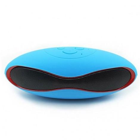 Mini X6U Wireless Bluetooth Stereo Speaker with Card Slot & Mic Blue