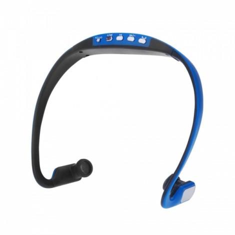 Universal Wireless Bluetooth 3.0 Sports Stereo Earphones Back Headphones Headset Blue