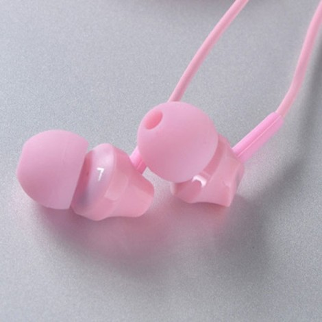 REMAX-RM501 Super Bass Stereo Wired Control Portable 3.5mm Headset with Microphone Pink