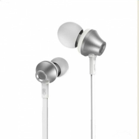 Remax RM-610D HiFi 3.5mm Universal Earphone for Android & iOS cellphone Silver