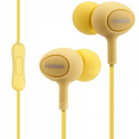 REMAX RM-515 In-ear Music Earphones with Microphone Yellow