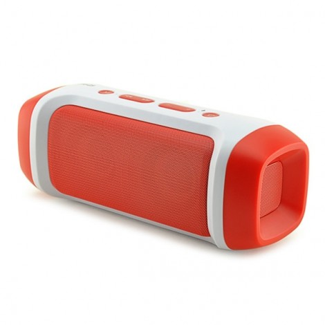 AODASEN JY-23 Stereo FM Radio TF Card AUX Wireless Bluetooth Speaker with Microphone Red