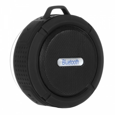 Portable Waterproof Bluetooth 3.0 Speaker Outdoor Wireless Stereo Speaker with Microphone/Sucker/Snap Hook Black