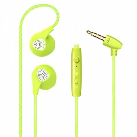 S10 Sport Head Universal Colorful Intelligent In-Ear Earplug Drive-by-Wire Earphone with Microphone Green