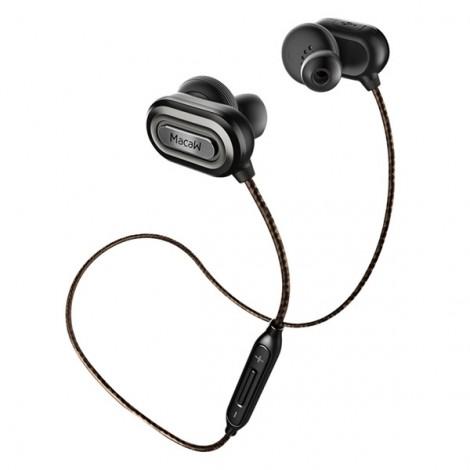 Macaw T1000 Sports Waterproof Wireless Bluetooth Earphones Gray