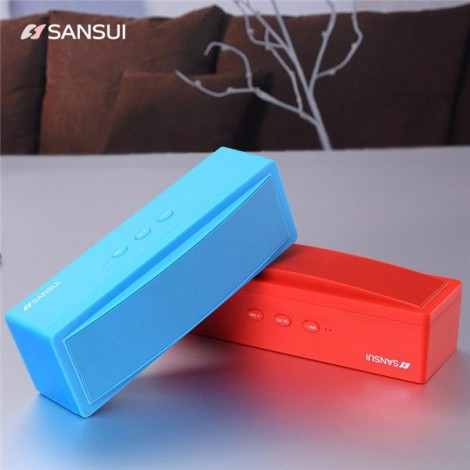 Sansui T18 Wireless Bluetooth Speaker 1200mAh Subwoofer Portable Speaker Red