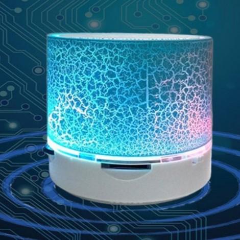 S10 Cracked Pattern A9 LED Mini Wireless Bluetooth Speaker Blue