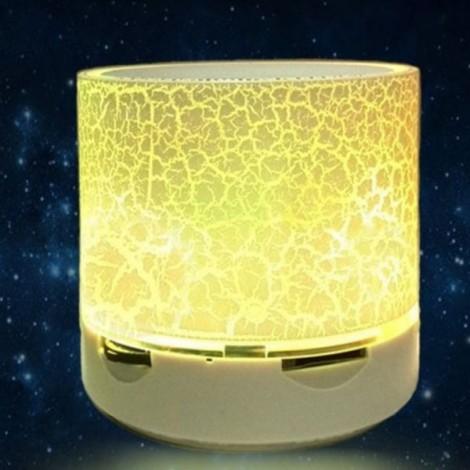 S10 Cracked Pattern A9 LED Mini Wireless Bluetooth Speaker Yellow