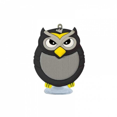 Owl Shaped Mini Bluetooth Speaker Stereo Heavy Bass Outdoor Loudspeaker with Sucker Phone Holder Black