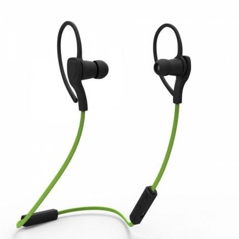 BT-H06 2 Units Detachable Earhook Stereo Bluetooth Headset 4.1 Version Green