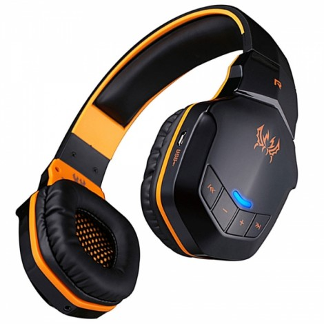 KOTION EACH B3505 Wireless Bluetooth 4.1 Stereo Gaming Headset with NFC Mic for iPhone6/ Samsung Orange