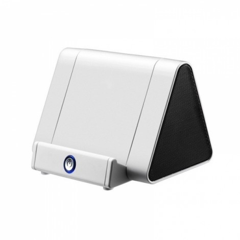 Wireless Smart Induction Sensor Speaker Portable Powered Sensing Speaker for Mobile Phone White