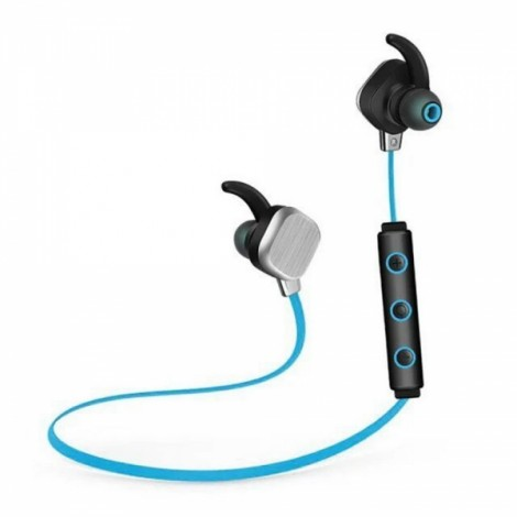 IP55 Waterproof Sports Magnetic Bluetooth 4.1 Stereo Headset with Mic & Multipoint Black & Blue