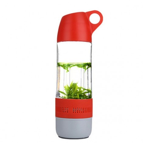 Water Bottle Style Mini Bluetooth Speaker Portable Cup Compass Wireless Speaker Outdoor Sound Stereo Music Player Red