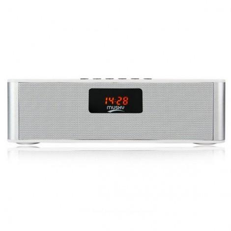 MUSKY DY21L Wireless Stereo Bluetooth Speaker Support TF U Disk FM Radio White