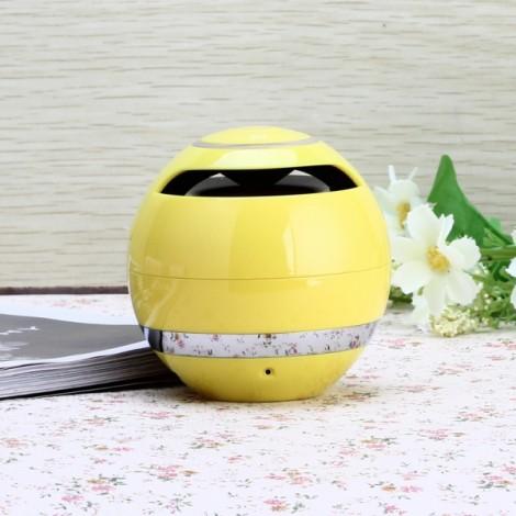 Bluetooth 2.1 Wireless Micro SD Card FM Hands-free Mini Speaker Yellow