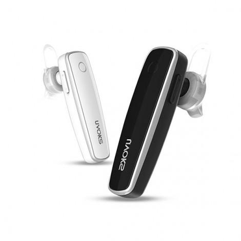 UVOKS U8 Mini Sport Portable Wireless DSP Noise Reduction Microphone V4.1 Bluetooth Earphone White