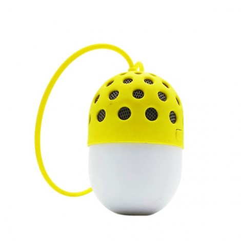 LED Colorful Mini Portable IPX4 Waterproof Hands-free Call Microphone Bluetooth Speaker Yellow