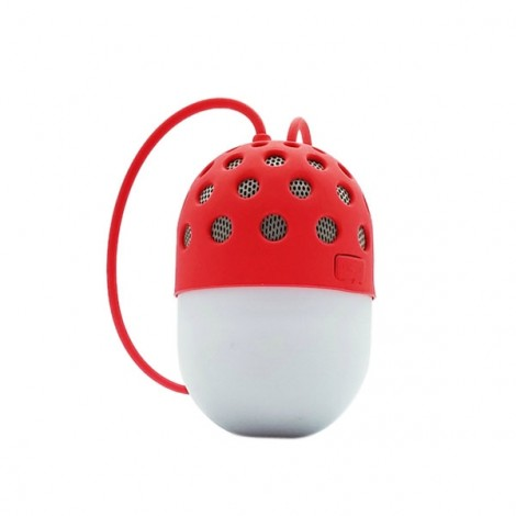 LED Colorful Mini Portable IPX4 Waterproof Hands-free Call Microphone Bluetooth Speaker Red