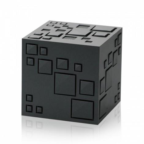 Magic Cube Bluetooth Stereo Subwoofer Card Wireless Portable Bluetooth Speaker Q+ Black