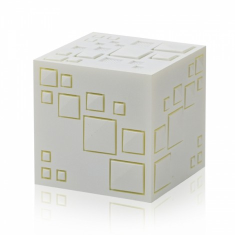 Magic Cube Bluetooth Stereo Subwoofer Card Wireless Portable Bluetooth Speaker Q+ White