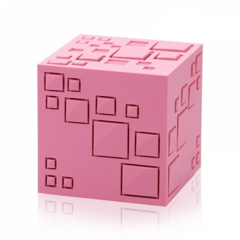 Magic Cube Bluetooth Stereo Subwoofer Card Wireless Portable Bluetooth Speaker Q+ Pink