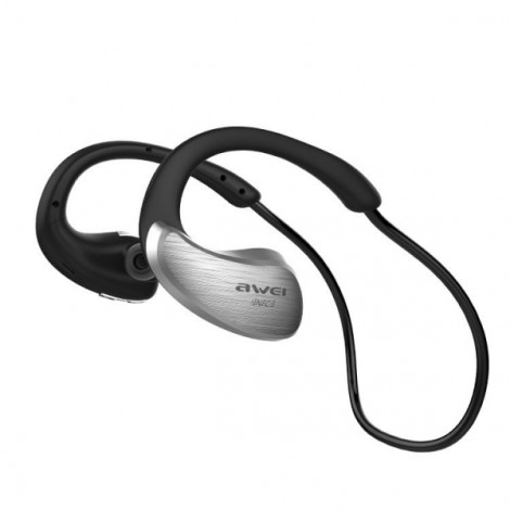 Awei A885BL IPX4 Waterproof Sports Wireless Bluetooth Headphones Earphones with NFC Silver