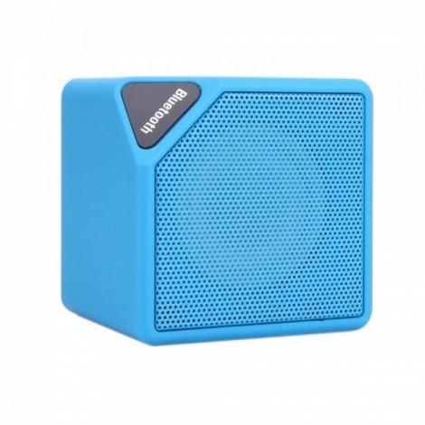 MINI-X3 Box Bluetooth Speaker with FM Function Blue