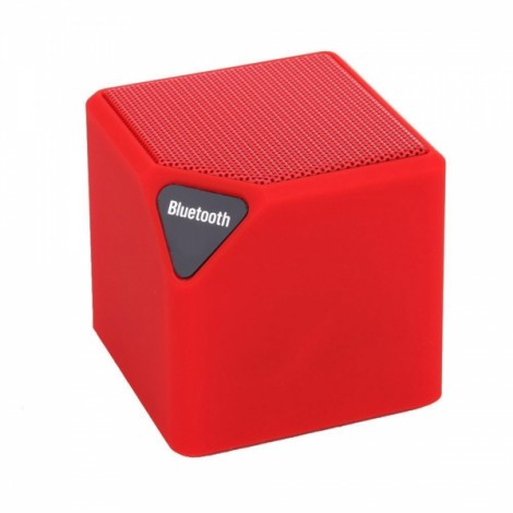 MINI-X3 Box Bluetooth Speaker with FM Function Red