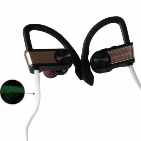 BH-1 New Music Smart Night Light Movement Bluetooth Headset Golden