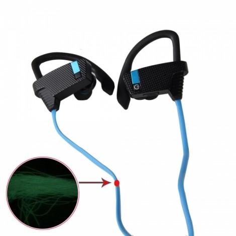 BH-2 New Music Smart Night Light Movement Bluetooth Headset Blue & Black