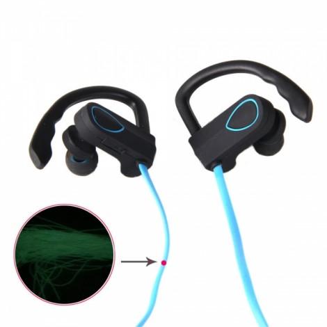 BH-3 New Music Smart Night Light Movement Bluetooth Headset Blue & Black