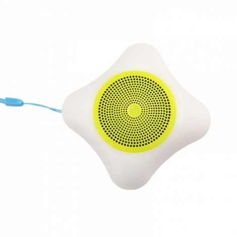 Wireless Mobile Phone Bluetooth Speaker LED Colorful Lights Small Portable Outdoor Sound Card Mini Subwoofer Yellow