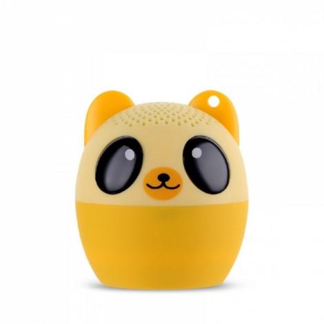 Ultra Mini Cartoon Cute Bluetooth Speaker Outdoor Music Bass Speakers Subwoofer Loudspeakers Support Phone Self Timer & Handsfree Bear Yellow