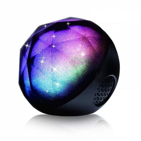 Crystal LED Flash Color Light ball Wireless Bluetooth Speaker Black