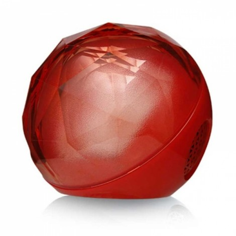 Crystal LED Flash Color Light ball Wireless Bluetooth Speaker Red
