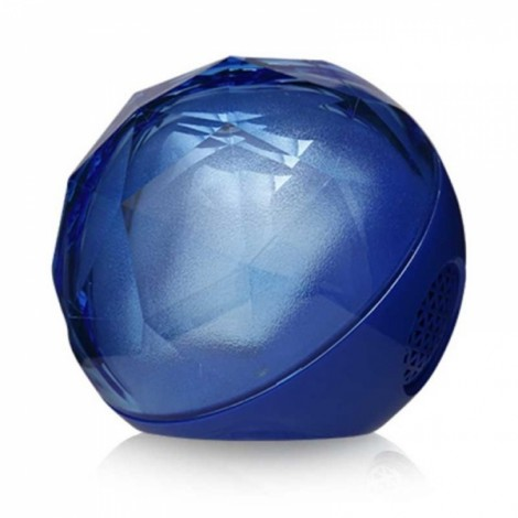 Crystal LED Flash Color Light ball Wireless Bluetooth Speaker Blue