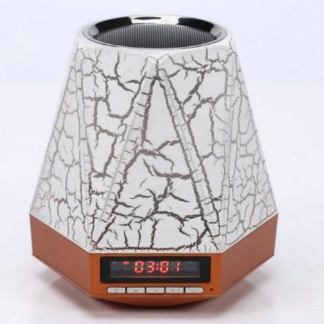 LED Bluetooth Speaker 7 Color Light Switch Mini Speaker Portable Receiver Bluetooth Altavoz Portatil Handsfree Alarm Clock FM TF Crack Section Brown