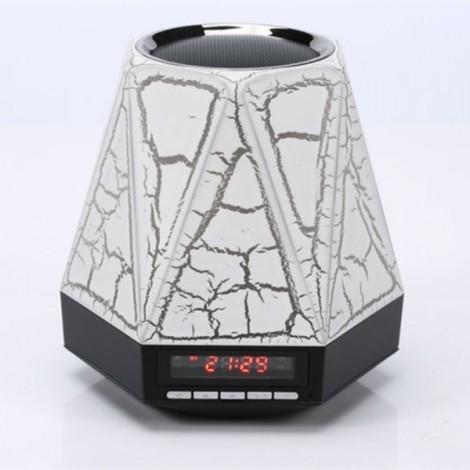 LED Bluetooth Speaker 7 Color Light Switch Mini Speaker Portable Receiver Bluetooth Altavoz Portatil Handsfree Alarm Clock FM TF Crack Section Black
