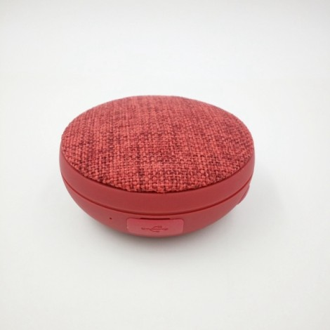 Mini Bluetooth Speaker Portable Wireless Speaker Outdoor Sport Small Volume Big Sound Cloth Speaker Red